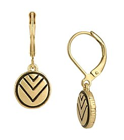 The Sak® Goldtone Etched Circle Drop Earrings