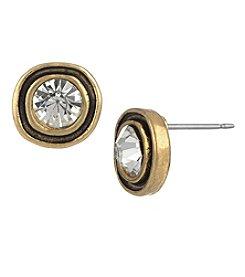 The Sak® Goldtone Ribbed Stone Stud Earrings