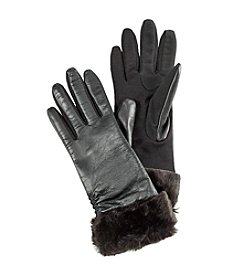 Fownes® Faux Fur And Leather Gloves
