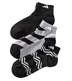 adidas® 3 Pack Graphic Low Cut Socks