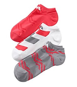 adidas® 3 Pack Graphic No Show Socks