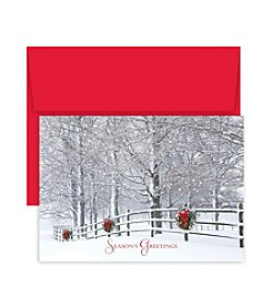 Masterpiece Studios Holiday Fence Boxed Holiday Greeting Cards