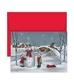 Masterpiece Studios Snowman Hug Boxed Holiday Greeting Cards