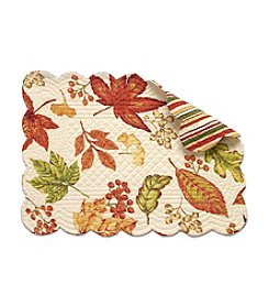 LivingQuarters Harvest Leaves Quilted Placemat