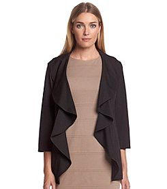 Calvin Klein Ruffle-Front Jacket