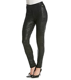 Calvin Klein Embossed Ponte Leggings