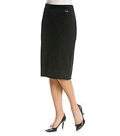 Calvin Klein Faux Suede Skirt