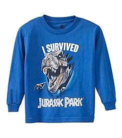 Jurassic Park® Boys' 4-7 I Survived Jurassic Park T-Rex Tee