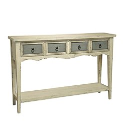 Pulaski Brayden 2-Drawer Antique White Console Table