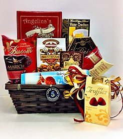 The Fifth Avenue Gourmet Chocolate and Cheese Basket