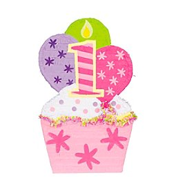 Giant 1st Birthday Pink Cupcake Piñata