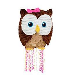 Pink Owl Pull-String Piñata