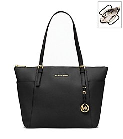MICHAEL Michael Kors® Jet Set Large Top-Zip Saffiano Leather Tote