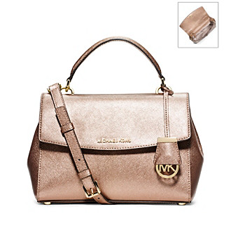 765d5cf8bcf7 UPC 889154508071 product image for MICHAEL Michael Kors® Ava Small Metallic  Saffiano Leather Satchel ...