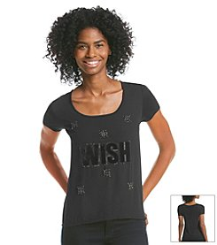 Jessica Simpson Wish Graphic Tee