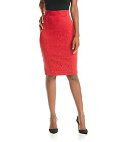 Sequin Hearts® Scuba Lace Midi Skirt