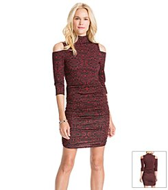 Jessica Simpson Printed Body Con Dress