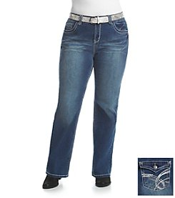 Wallflower® Plus Size Belted Bootcut Jeans