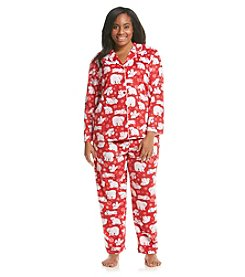 KN Karen Neuburger Fleece Pajama Set