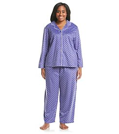 KN Karen Neuburger Fleece Polka Dot Pajama Set