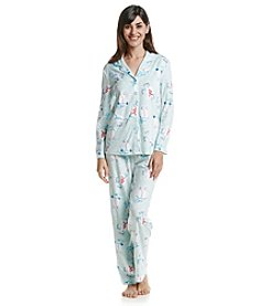 KN Karen Neuburger Fleece Snowman Pajama Set
