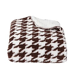 Ruff Hewn Brown Houndstooth Sherpa