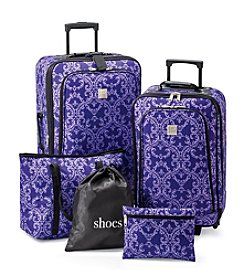 Relativity® Purple Vine Expandable 5-pc. Luggage Set