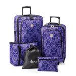 Relativity Purple Vine Expandable 5-pc. Luggage Set