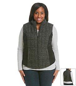 Ruff Hewn Plus Size Panel Puffer Vest