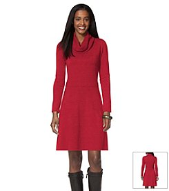 Chaps® Cowlneck Sweater Dress