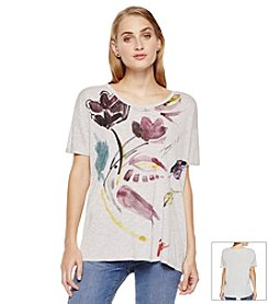 Vince Camuto® Floral Watercolor Tee