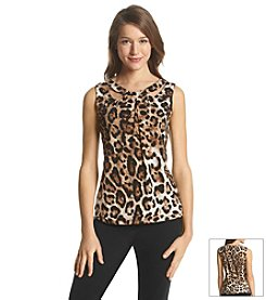 Nine West® Printed Criss Cross Cami