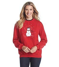 Morning Sun® Folksy Snowman Fleece Sweatshirt