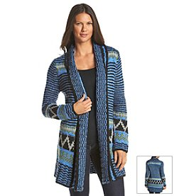 Notations® Long Stripe Cardigan