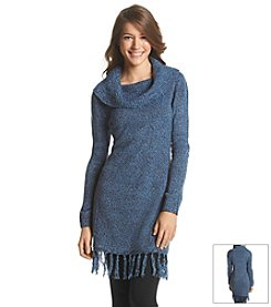 Notations® Marled Fringe Sweater Tunic