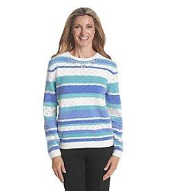 Alfred Dunner® Aurora Borealis Stripe Chenille Sweater