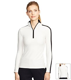 Lauren Active® Stretch-Mesh Pullover