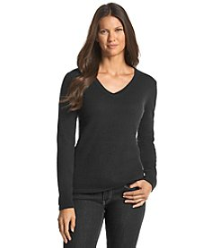 Olivia & Grace® Cashmere V-Neck Sweater