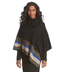 Lennie Patterned Hem Poncho