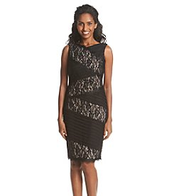 JAX® Lace Tiered Sheath Dress