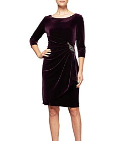 Alex Evenings® Velvet Ruched Dress