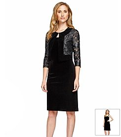 Alex Evenings® Lace Bolero Jacket Dress