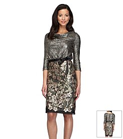 Alex Evenings® Metallic Blouson Dress