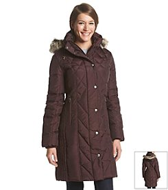 London Fog® Three-Quarter Quilt Coat