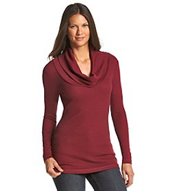 Ruff Hewn Petites' Knit Cowlneck Top
