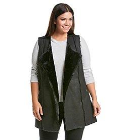 Ruff Hewn GREY Plus Size Faux Suede Vest
