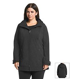 Calvin Klein Plus Size A-Line Zip Front Coat