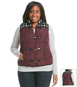 Ruff Hewn Plus Size Menswear Yoke Vest