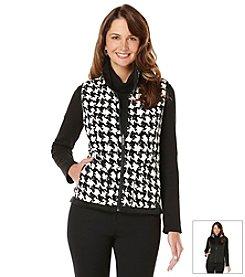 Rafaella® Petites' Houndstooth Puffer Vest