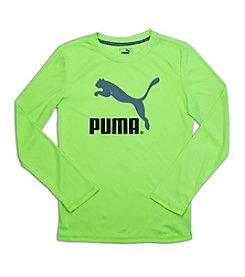 PUMA® Boys' 8-20 Long Sleeve Puma Logo Tee